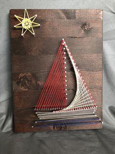 Sailboat String Art by StringPopShop on Etsy https://www.etsy.com/listing/584068590/sailboat-string-art