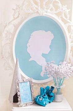 decoracao para tema Frozen