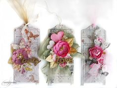 Mixed Media Floral Tags   News