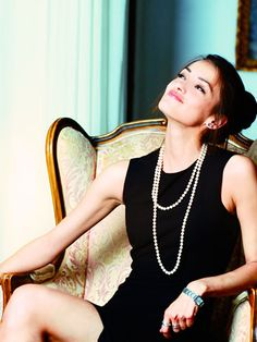 Black Dress and Pearls. A classic look...and the trend is Pearls and more Pearls....Easy to Dress for a Holiday Christmas Party, Christmas or New Years Eve!!