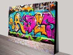 A nice image of some stunning grafitti on the wall. As with all of our art, its available in a variety of options, the most popular being stretched canvas print