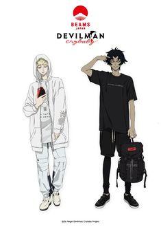 Devilman Crybaby Collaborates With Beams Japan to Bring Devilish T-Shirts Devilman Crybaby, Manga Anime, Anime Art, Cry Baby, Character Art, Character Design, Inu Yasha, Crying Man, Animation