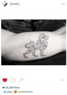 Dr. Woo. Lion Leo constellation tattoo