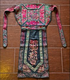 Antique Miao Tribe Baby Carrier, China •  Amazing embroidery and applique work Age: 60-80yrs old