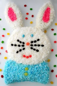 Gluten-Free Easter Bunny Cake with Cream Cheese & Coconut Icing