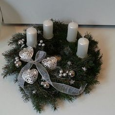Christmas Advent Wreath, Christmas Mood, Christmas Candles, Outdoor Christmas, Christmas Decorations To Make, Christmas Crafts, Holiday Decor, Happy Little Trees, Crowns