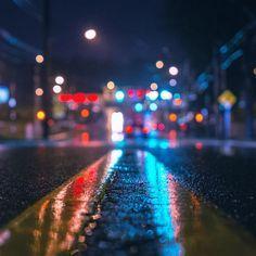 Rainy City Night #Retina #iPad #Air #wallpaper