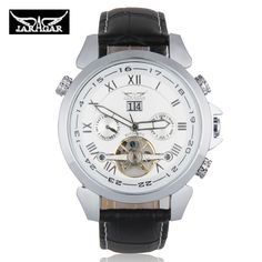 Aliexpress.com : Buy 2015 Luxury Brand JARAGAR Auto Mechanical Watches Men 4 Hands Date Tourbillon Mens Wrist Watch Free Ship Gift Box from Reliable watch necklace suppliers on Original Brand Watch Mall | Alibaba Group