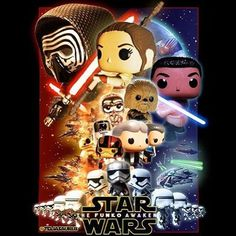 The Force Awakens Poster POP!