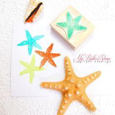 Starfish Stamp Seastar Sea Star Rubber Stamp by myrubberstamp, $12.00
