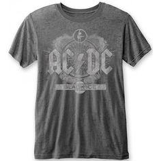 Medium Rockoff Trade Men/'s Back In Black Circle T-shirt Various Acdc White