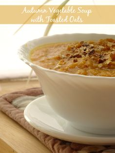 Vegetable Soup with Toasted Oats -