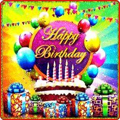happy birthday wishes Birthday Logo, Funny Happy Birthday Wishes, Birthday Pins, Happy Birthday Greetings, Birthday Greeting Cards, Birthday Stuff, Bday Cards, Birthday Ideas, Cool Happy Birthday Images