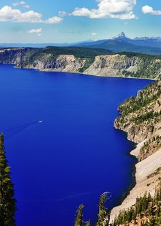 Visit Crater Lake National Park in Oregon. On my 'dream' list along with driving PCH