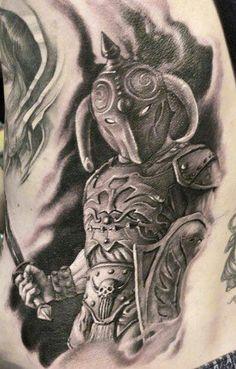 Realistic Black And Gray Warriors Tattoo Art By Artist James Tattooart