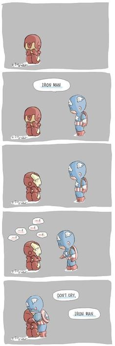This is beyond cute!  #ironman #captainamerica