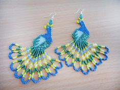 Jewellery In India Online where Beaded Bracelet Making Tools. Jewellery Manufacturers Near Me my Jewellery Gold Brands Beaded Earrings Patterns, Seed Bead Patterns, Beading Patterns, Beaded Bracelets, Peacock Earrings, Seed Bead Jewelry, Bead Jewellery, Bead Embroidery Jewelry, Beaded Embroidery