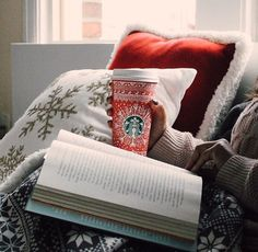 Blankets, books, coffee and cosiness