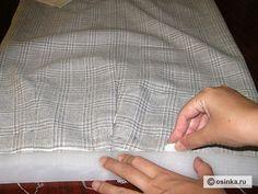 01. Наметить линию верхнего среза юбки в готовом виде.