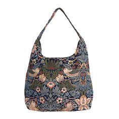 William Morris Slouch Bag, Blue