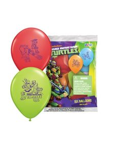"Pioneer National Latex Teenage Mutant Ninja Turtles 12"" Latex Balloons, 6 Count Pioneer National Latex  $5"