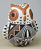 Native American Pottery Owl