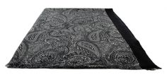 Michelsons of London Black Fine Detailed Outline Paisley Wool Scarf