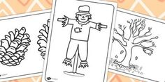 Autumn Colouring Sheets - twinkl