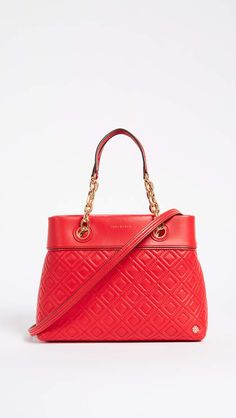 6505c0bd665 Tory Burch Fleming Small Tote Bag - Exotic Red Handbag Tory Burch Hobo  Purses