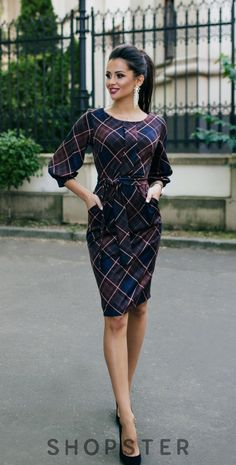 Shop sexy club dresses, jeans, shoes, bodysuits, skirts and more. Mode Outfits, Office Outfits, Casual Dresses, Fashion Dresses, Dresses For Work, Classy Work Outfits, Cute Fashion, Womens Fashion, Gown Pattern