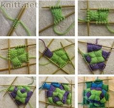 entrelac in the round (how entrelac socks begin) at KNITHACKER CORRECTED LINK!