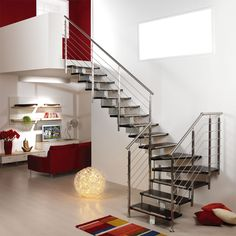 handrails for inside staircases | ... from a minimum of 3 to a maximum of 9. Stainless steel handrail d. 42