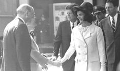 """Jacqueline Kennedy (née Jacqueline Lee """"Jackie"""" Bouvier; July 28, 1929 – May 19, 1994), was the wife of the 35th President of the United States, John F. Kennedy, and First Lady of the United States during his presidency from 1961 until his assassination in 1963 ❤❤❤❤❤❤  Beauty ...Smile ...Me Smile Now .....So Happy ...See Them ...Hope In Their Souls ...Wonderful Rare...People ..Only We Said ..............RIP               http://en.wikipedia.org/wiki/Jacqueline_Kennedy_Onassis"""