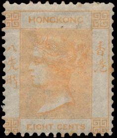 Hong Kong 1862 & 1865. Queen Victoria. 6 Cents
