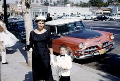 Unknown Woman and Boy 1950s. Los Angeles, CA (?)