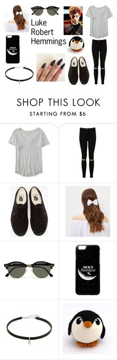 """""""LRH"""" by kennajayce on Polyvore featuring Aéropostale, Miss Selfridge, Vans, New Look and Ray-Ban"""
