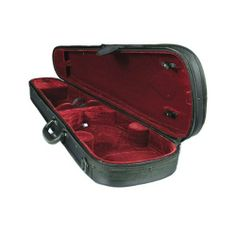 Kyoto Shaped Violin Case - 1/4, Red Interior/Black Exterior . $49.00. Economical and durable, the Kyoto case is designed for lightweight, easy portability. Constructed of a dart-shaped, 3-ply wooden shell. Double zippered, screw attached cordura cover. Plush burgundy velveteen interior. 4.0 lbs (4/4 size).