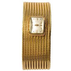 Gublein Lady's Yellow Gold Bracelet Watch | From a unique collection of vintage wrist watches at http://www.1stdibs.com/jewelry/watches/wrist-watches/