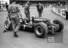 Jo Siffert, Rob Walker Cooper Maserati T80 V12, on his way to the grid at the Silverstone International Trophy, 1966. #f1 #formula1