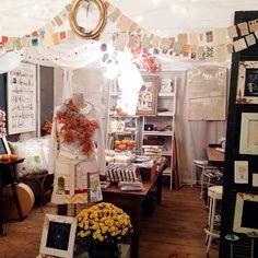 Rebecca Sower - setup at The Hayloft at Port Royal barn sale