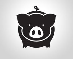 Dark pig shop This Little Piggy, Little Pigs, Logo Luxury, Chinese New Year Decorations, Pig Crafts, Pig Art, Year Of The Pig, Animal Silhouette, Flying Pig