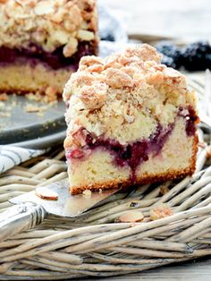 This Blackberry and Almond Coffee Cake is everything a good snacking cake should be. It has a tender, moist crumb. A crunchy, nutty streusel. Blackberry Coffee Cakes, Blackberry Recipes, Almond Recipes, Cake Recipes, Dessert Recipes, Gateaux Cake, Almond Cakes, Sweet Bread, Let Them Eat Cake