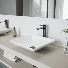 Vigo Vessel Sinks Matte White Matte Stone Vessel Square Bathroom Sink With Faucet (Drain Included) Square Bathroom Sink, Stone Bathroom Sink, Square Sink, Bathroom Faucets, Small Bathroom, Master Bathroom, Bathroom Ideas, Bathroom Island, Glass Bathroom