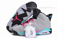 Air Jordan 6(VI) Retro South Beach Grey Pink Green