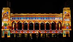 Moment Factory, the multimedia team behind Arcade Fire's recent Coachella performance, unveil a permanent light show on the city's storied boardwalk. Street Installation, Arcade Fire, Projection Mapping, Atlantic City, Light Colors, Places To Go, In This Moment, Architecture, Projects