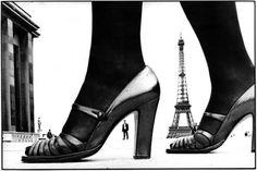 FRANK HORVAT - Paris, Shoe and Eiffel Tower A, 1974