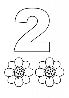 Number coloring pages. the number 2
