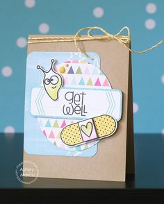 Card by PS DT Ashley Marcu using PS Healthy Vibes stamps/dies