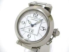 Authentic Cartier Pasha C Big Date W31055M7 Unisex Wristwatch 810647UF #Cartier