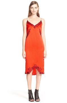 Z rag & bone Izabella Silk Charmeuse High/Low Slipdress  Red NWT 4